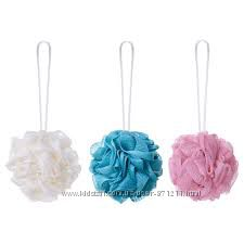 Мочалка для душа, разные цвета, 3 шт Abyan Икеа IKEA 302. 817. 39 В наличии