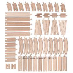 Железная дорога, детали, 50 штук Lillabo Икеа IKEA 103. 200. 77 В наличии