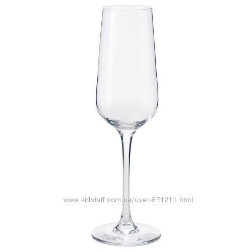 Бокал для шампанского, 220 мл, 6 штук Ivrig Икеа IKEA 002. 864. 89 В наличи