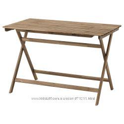 Садовый стол, складной, морилка, 112x62 см Askholmen Икеа IKEA 103. 378. 17