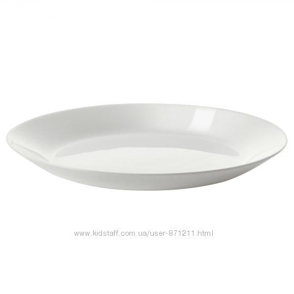 Тарелка белая, десертная 19 см, Oftast, Офтаст Икеа IKEA 603. 189. 39