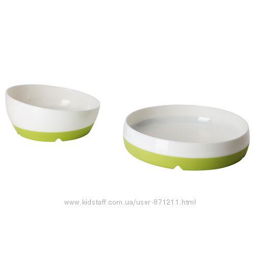 Тарелка миска детские, 2 шт Sm&aringgli, Смэгли Икеа IKEA 302. 083. 48 В на