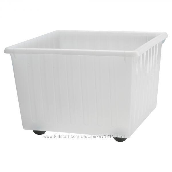 Ящик на колесах, для игрушек, белый Vessla Икеа IKEA 300. 648. 49 В наличии