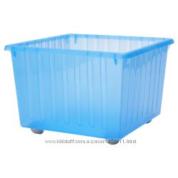 Ящик на колесах, для игрушек, голубой Vessla Икеа IKEA 800. 985. 16