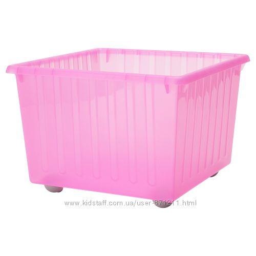 Ящик на колесах, для игрушек, розовый Vessla Икеа IKEA 100. 992. 89