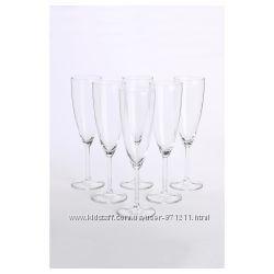 Бокал для шампанского, стекло, 210 мл, 6 шт. Svalka Икеа IKEA 500. 151. 22