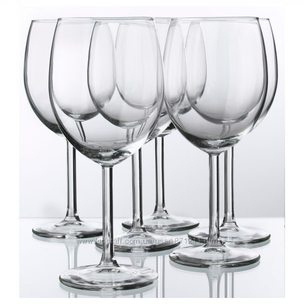 Бокал для красного вина, стекло, 300 мл, 6 шт Svalka Икеа IKEA 300. 151. 23