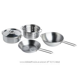 Игрушечная посуда, 5 предм, нержавеющая сталь Duktig Икеа IKEA 001. 301. 67