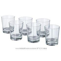 Стакан, прозрачное стекло, 230 мл, 6 шт. Godis Икеа IKEA 800. 921. 09