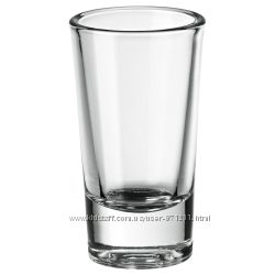 Рюмка, стопка, прозрачное стекло, 25 мл Figurera Икеа IKEA 403. 094. 60