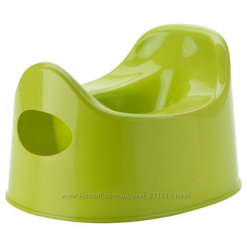 Горшок детский, зеленый Lilla, Лилла Икеа IKEA 301. 931. 63 В наличии