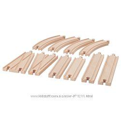 Железная дорога, детали, 10 штук Lillabo Икеа IKEA 303. 637. 25 В наличии