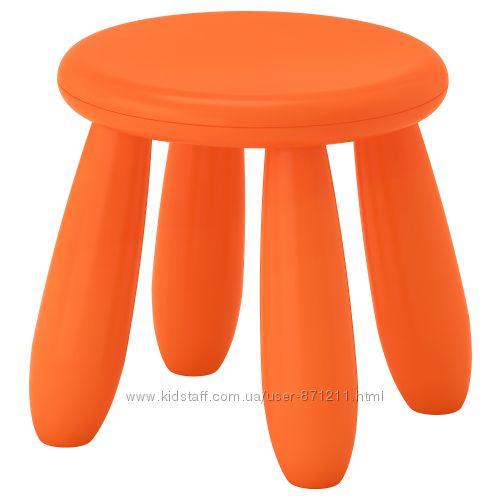 Табурет детский, для домаулицы, оранжевый Mammut Ikea Икеа 503. 653. 61