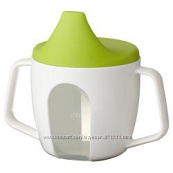 Чашка-поилка детская, 200 мл, белый, Börja, Борья Икеа Ikea 202. 138. 8