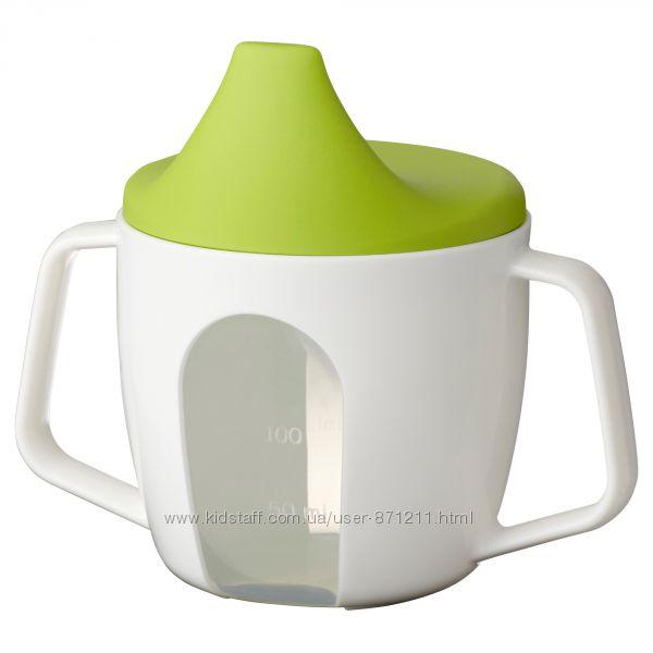 Чашка-поилка детская, 200 мл, белый, B&oumlrja, Борья Икеа Ikea 202. 138. 83