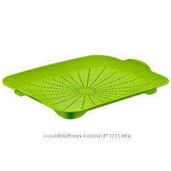 Поднос-сушилка, пластик, зеленый CH-4189