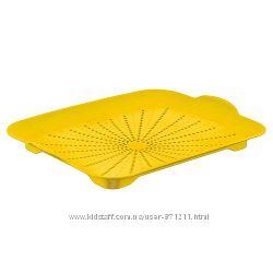 Поднос-сушилка, пластик, желтый CH-4190