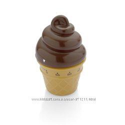 Таймер кухонный, Мороженое, пластик, коричневый CH-4239