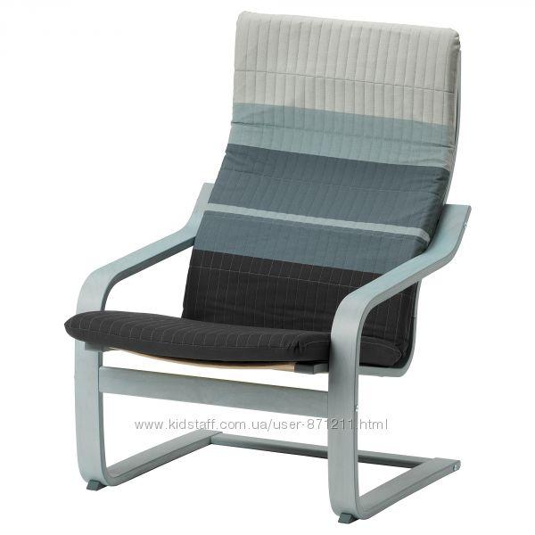 Кресло, синийсерый, Лискрафт, Ikea, Икеа, Po&aumlng Поэнг 192. 618. 70