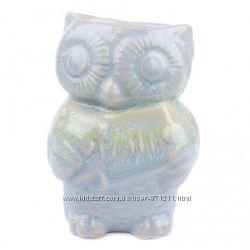 Аромалампа Сова, овальная чаша, керамика, бирюзовый OR-1077