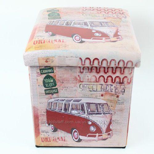 Пуф раскладной, с местом для хранения, Красная машина OR-1079