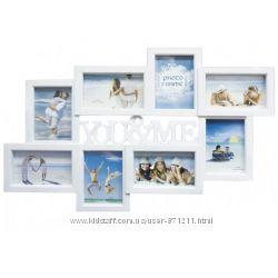 Фоторамка-коллаж на 8 фото, You&Me, пластик, белый OR-1119