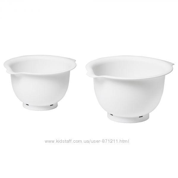 Набор мисок для взбивания, 2 шт, белый Ikea Икеа Виспад Vispad 504. 217. 91