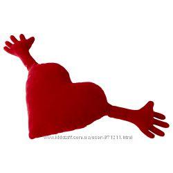 Подушка Сердце, красный, 40x101 см, Ikea, Икеа Famnig Hjarta 274. 704. 60