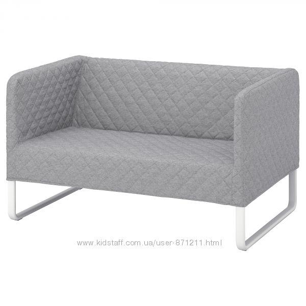 Диван 2-местный, светло-серый, Кноппарп Knoppart Ikea Икеа 104. 246. 21