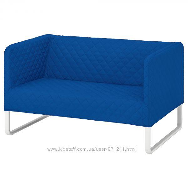 Диван 2-местный, синий, Кноппарп Knoppart Ikea Икеа 804. 246. 51