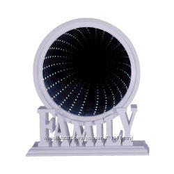 Зеркало настольное Family, с подсветкой, бесконечность, пластик OR-1064