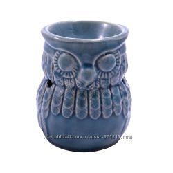 Аромалампа Сова, круглая чаша, керамика OR-1067