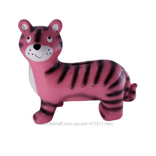 Копилка керамическая, Тигр, розовый OR-1072