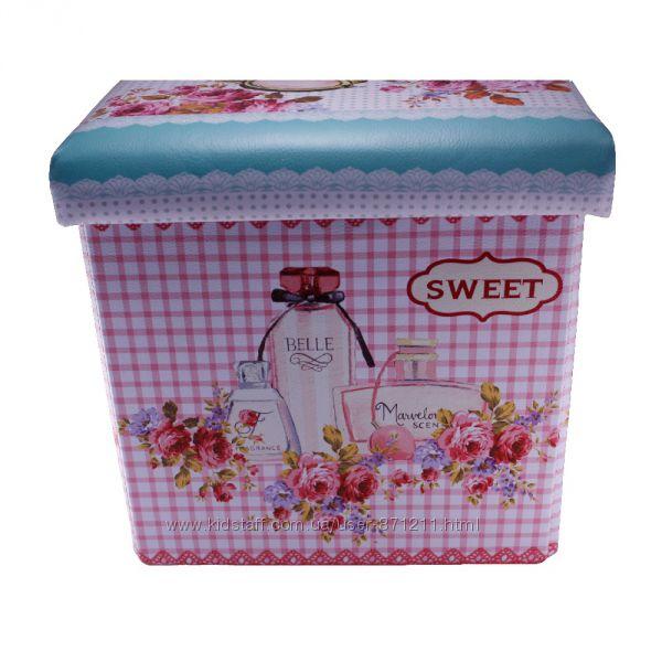 Пуф раскладной, с местом для хранения, Цветы и духи OR-1080