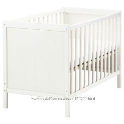 Кроватка детская, белый, 60x120 см, Сундвик Sundvik Ikea Икеа 002. 485. 67