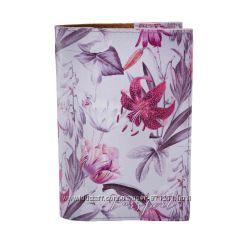 Обложка на паспорт, Лилии, экокожа Pass-04