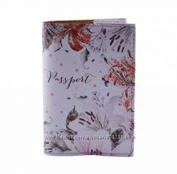 Обложка на паспорт, Орхидеи, экокожа Pass-31