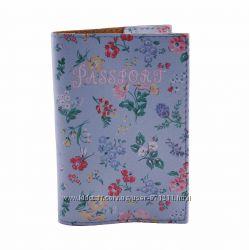 Обложка на паспорт, Полевые цветы, экокожа Pass-39
