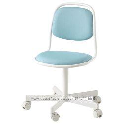 Детский стул для письменного стола, голубой Orfjall Ikea Икеа 604. 417. 79