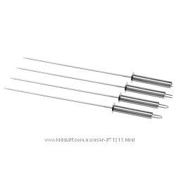 Шампуры, 4 шт. , нержавеющая сталь, 45 см, Grilltider Ikea Икеа 104. 446. 9