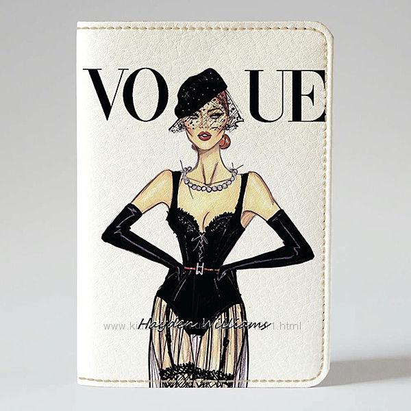 Обложка на паспорт, Девушка VOGUE, экокожа