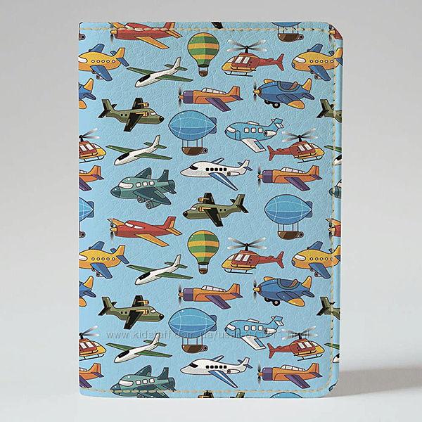 Обложка на паспорт, Самолетики, экокожа