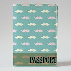 Обложка на паспорт, Усики фон, экокожа