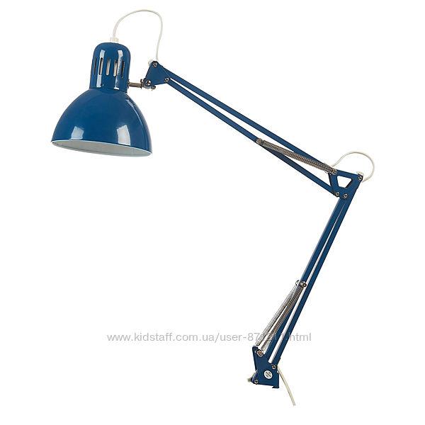 ТЕРЦИАЛ Лампа настольная, синий, 804. 472. 09, IKEA, ИКЕА, TERTIAL