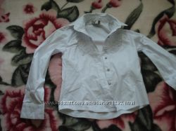 Рубашка для девочки 6-7 лет белая