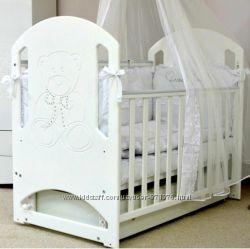 Акция Детская кроватка ЛД8, декор луна, или мишка со стразами