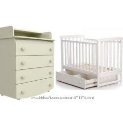 Комплект детская кроватка ЛД 12  маятник  комод-пеленатор Верес