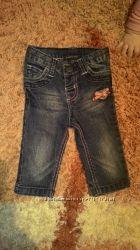 Модные джинсики для малышки  3-6 мес.