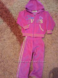 Спортивный костюм велюровый, 2-3 года