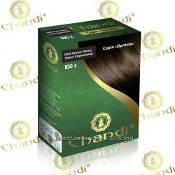 Краска для волос Chandi на основе хны. Серия Органик. 7 оттенков.